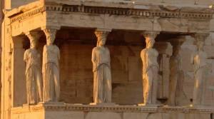 El Pórtico de las Doncellas en la Acrópolis